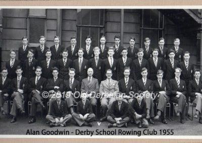 Alan Goodwin - Derby School Rowing 1955 1