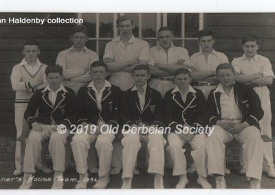 Alan Haldenby -Tanner's House Team 1936