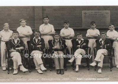 Alan Haldenby - Tanner's Junior House Champions 1933