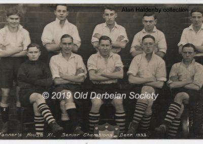 Alan Haldenby -Tanner's Senior House Champions Dec 1933