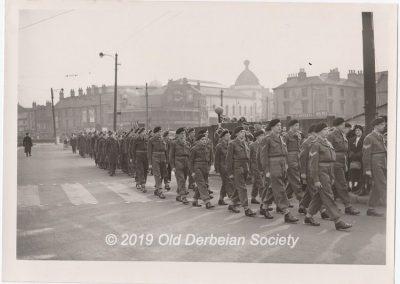 DERBY SCHOOL CCF CONTINGENT --- 1952