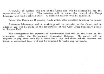 Amber Valley Camp 1940 description page 2