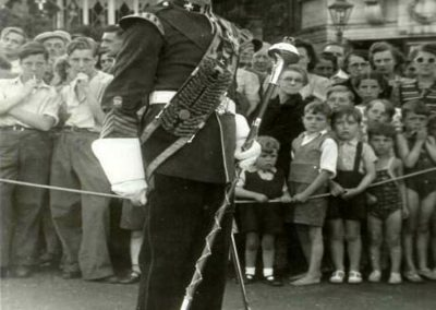Andrew Polkey - Drum Major Jim Doherty 1947 5th Bn