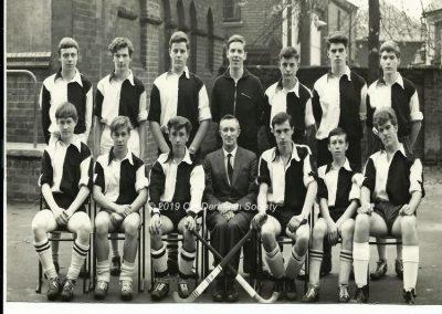 Barrie Barber - Hockey 1st XI Team Oct 1963