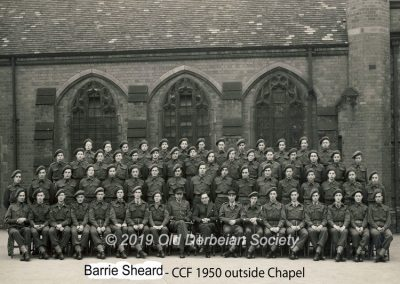 Barrie Sheard - Derby School CCF 1950
