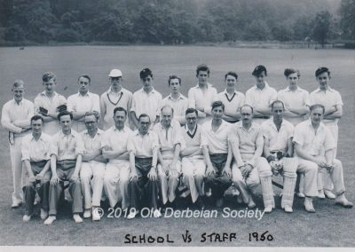 Barrie Williams - School 1st XI versus Staff 1950
