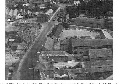 Bridge Gate Derby 1967 from St. Alkmunds tower
