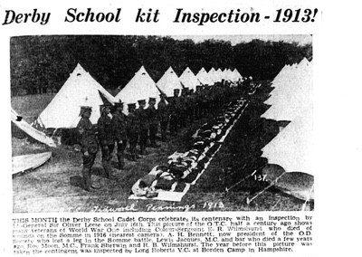Cadet Corps Camp report 1913