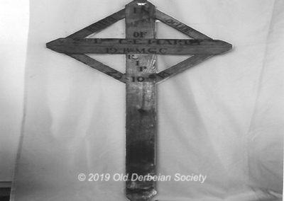 Chardles Eric Hardy wooden cross.