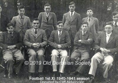 Cliff Aldwinckle - 1st XI 1940-41
