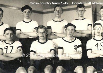 Cliff Aldwinckle - Cross Country Team 1942
