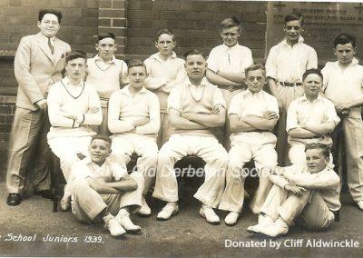 Cliff Aldwinckle - Derby School Juniors 1939