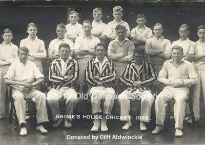 Cliff Aldwinckle - Grime's House Cricket 1938