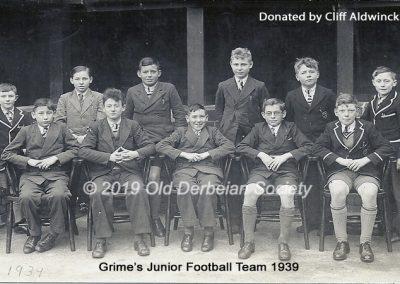 Cliff Aldwinckle - Grime's Junior Football 1939