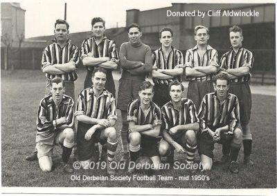 Cliff Aldwinckle - Old Derbeian Society Football Team mid 1950's