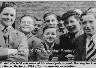 Colin Bell - first day back from Amber Valley Camp Sept 1945