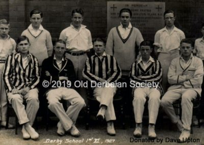 Dave Upton - School Cricket XI 1927