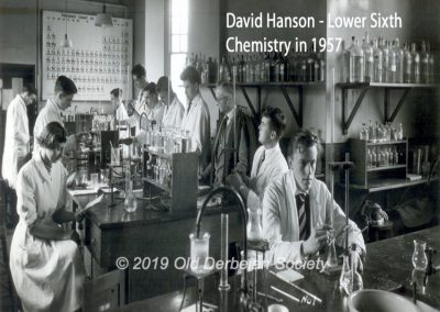 David Hanson - Lower Sixth Chemistry Lab 1957 1