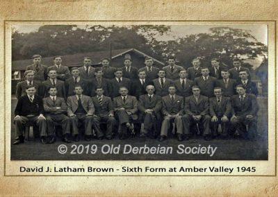 David J. Latham Brown - Sixth form at Amber Valley Camp