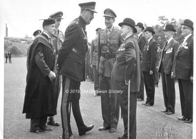 David Oldfield - summer CCF 1962 parade Lt. General Sir Oliver Leese
