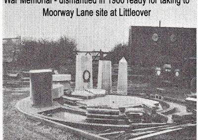 Derbeian - War memorial dismantled early 1966