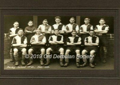 Derby School - 1st XI Dec 1933