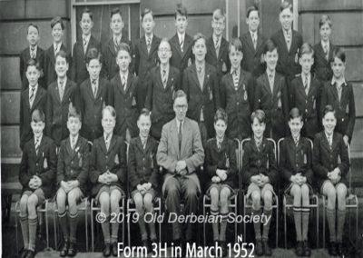 Derby School 3H - March 1952 1