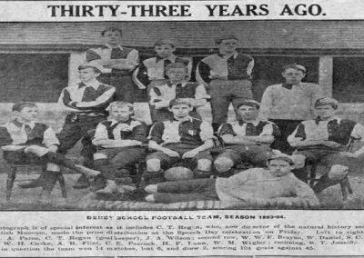 Derby School Football 1893 -1894