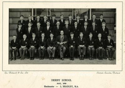 Derby School - Form with Mr Summerbell as form master May 1959