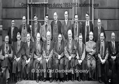 Derby School Masters 1952