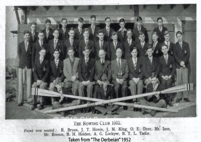 Derby School Rowing Club 1952