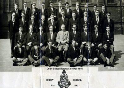 Derby School Rowing Club 1956
