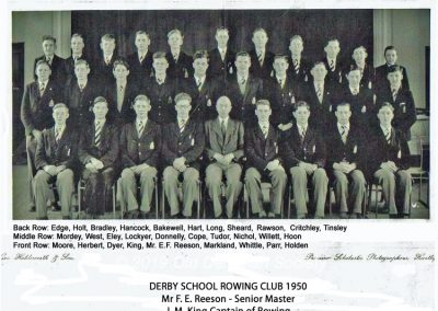 Derby School Rowing Club Summer 1950 1