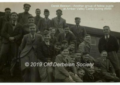 Derek Beeson - Another group of pupils at Amber Valley Camp in WWII