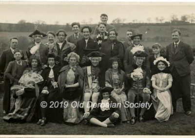 Derek Beeson - Group of pupils in play costumes
