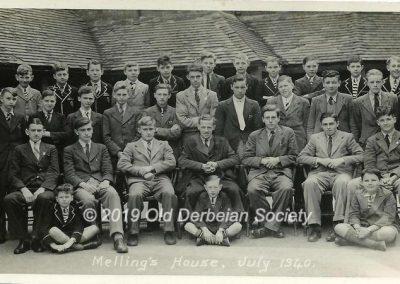 Derek Beeson - Melling's House 1940 outside cloisters