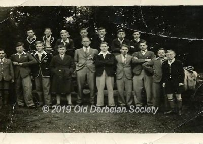 Derek Beeson - group of pupils at Amber Valley Camp in WWII