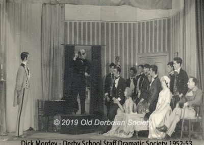 Dick Mordey - Derby School Staff Dramatic Society 1952-53