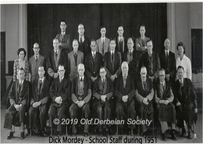 Dick Mordey - School Staff 1951