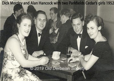 Dick Mordey and Alan Hancock plus Parkfield Cedar's girls 1952