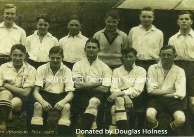 Douglas Holness - Tanner's House XI Nov 1927