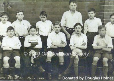 Douglas Holness - Tanner's Junior XI Dec 1933