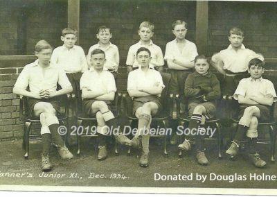 Douglas Holness - Tanner's Junior XI Dec 1934