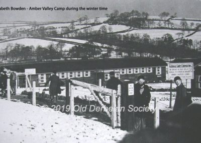 Main entrance to Amber Valley Camp in Winter