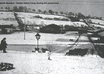 Amber Valley Camp in Winter, from Dining Hall