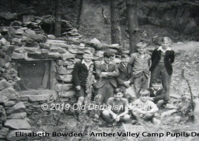 One of the huts in Top Woods at Amber Valley Camp in 1942