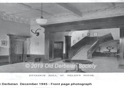 Entrance Hall at Derby School in St Helen's House 1945