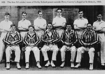 First XI cricket team 1939
