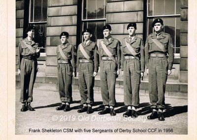 Frank Shekleton CSM with five Sergeants 1956
