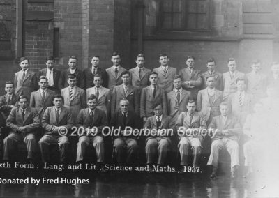 Fred Hughes - 6th Form Lang Lit Science Maths 1937